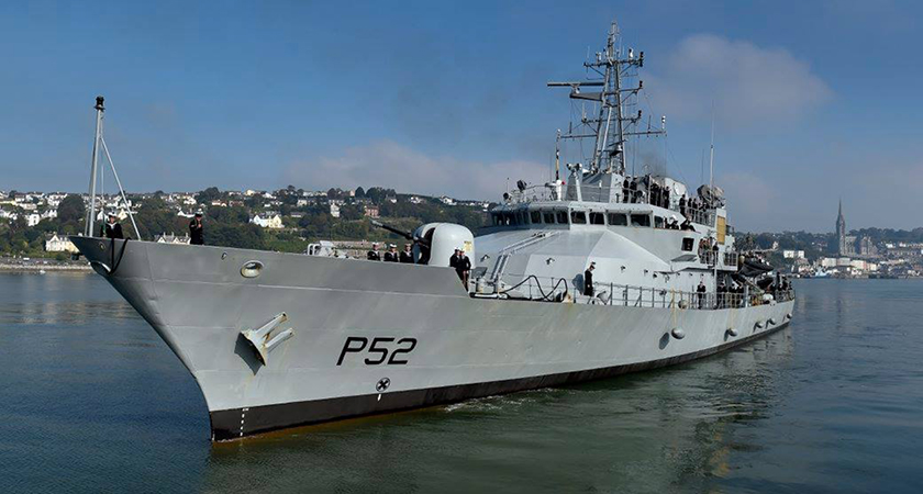 The LÉ Niamh, one of the large patrol vessels in the Irish Naval fleet. (Picture: Lewis McCormack)