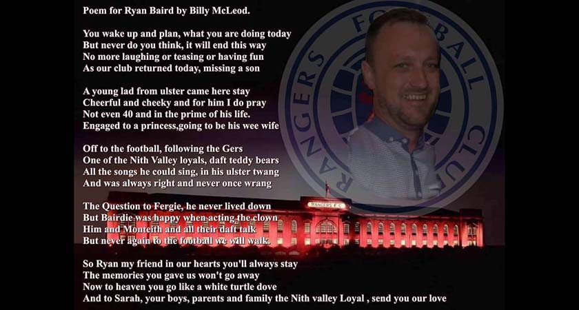 The poem tribute to Ryan Baird. (Source: Facebook)