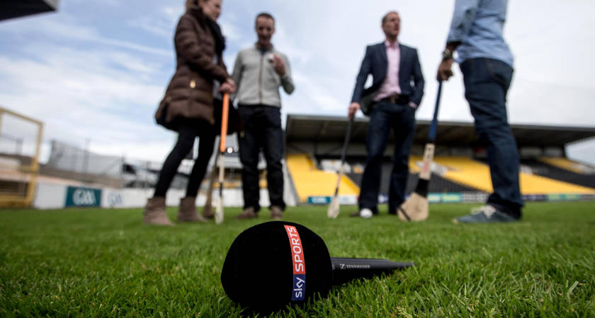 Behind-the-scenes at the first ever Sky Sports GAA broadcast between Kilkenny and Offaly at Nolan Park on Saturday 7th June 7/6/2014 [©INPHO/James Crombie]