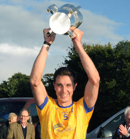 Captain Tagdh Healy lifts the cup [Picture: Mal McNally]