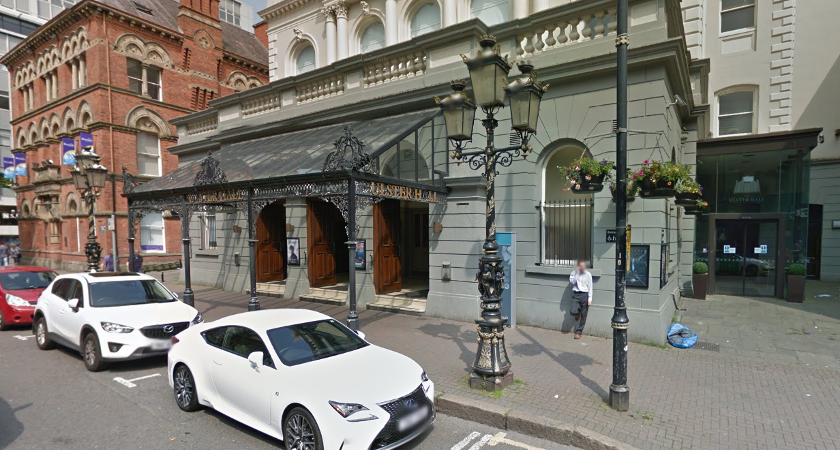 Ulster Hall on Bedford Street, Belfast [Picture: Google Maps]
