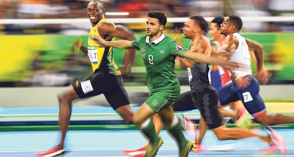 It's Ushane Bolt...