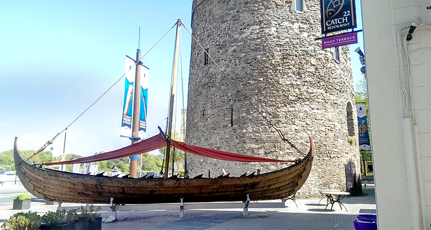 A reconstruction of a Viking longship in Waterford, Ireland [Picture: Wikipedia Commons]