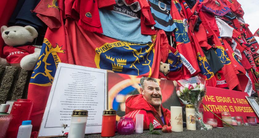 Fans remembering Axel outside Thomond Park