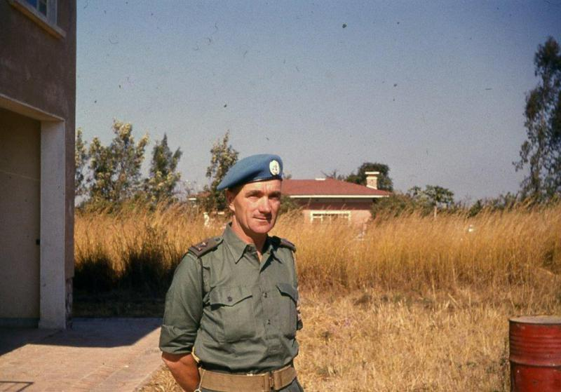 Commandant Pat Quinlan in Jadotville shortly before the siege [Courtesy of Leo Quinlan]