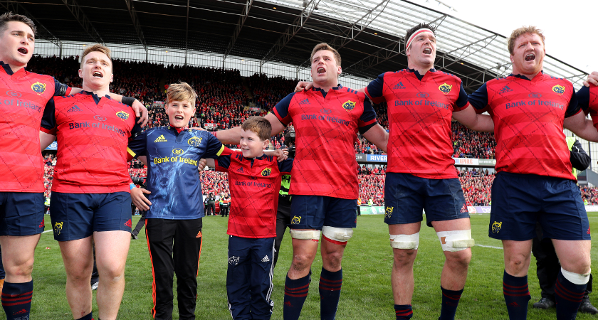 Anthony Foley's young sons join the Munster team