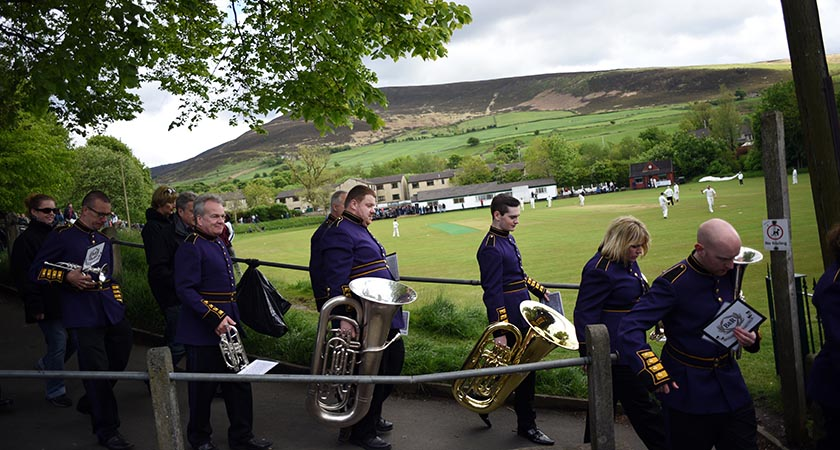 Members of the Brighouse and Rastrick Band (Picture: OLI SCARFF/AFP/Getty Images)