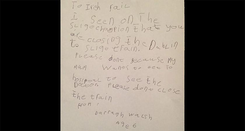 Darragh's brilliant letter in full [Picture: Twitter]
