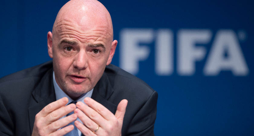 FIFA president Gianni Infantino took over following Sepp Blatter's reign [Picture: Getty]
