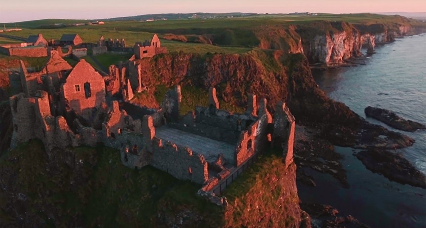 Dunlace Castle, Co. Antrim [Picture: YouTube]