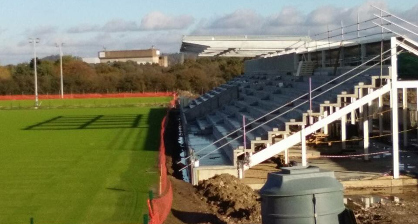 The new stand in Ruislip is well on the way to completion [Picture via London GAA]