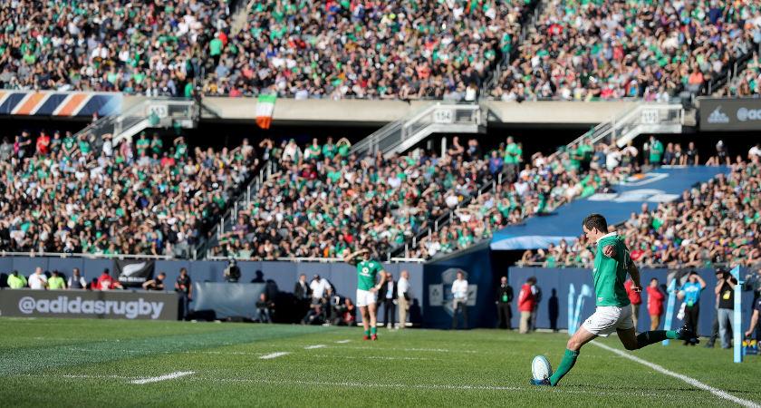 Ireland's Jonathan Sexton converts their first try [ ©INPHO/Dan Sheridan]