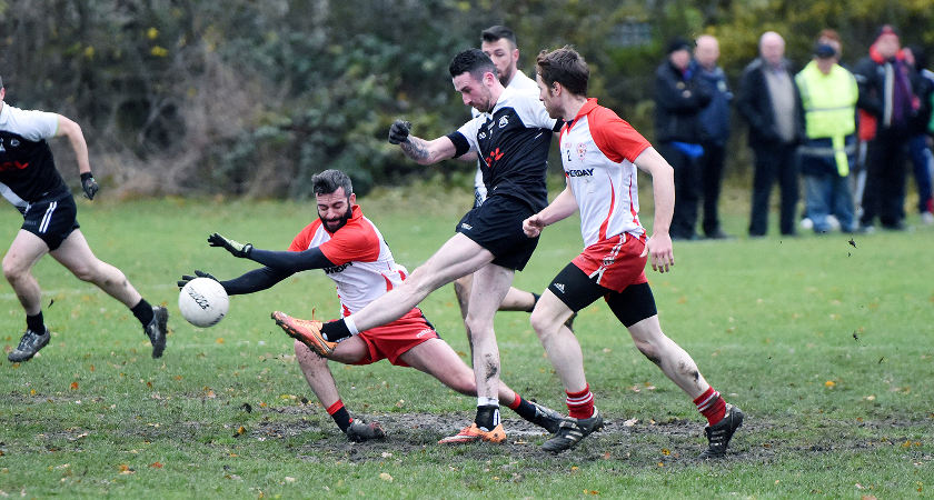 Pitch Two in Greenford was a little worse for wear [Picture: Mal McNally]