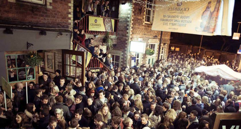 Ashton Lane is the place to be if you're in Glasgow for New Year's Eve