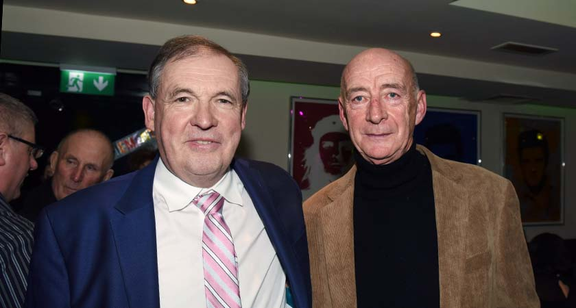Mick and ex AIB Kilburn branch colleague George Glendon, who were both present during the bank raid.