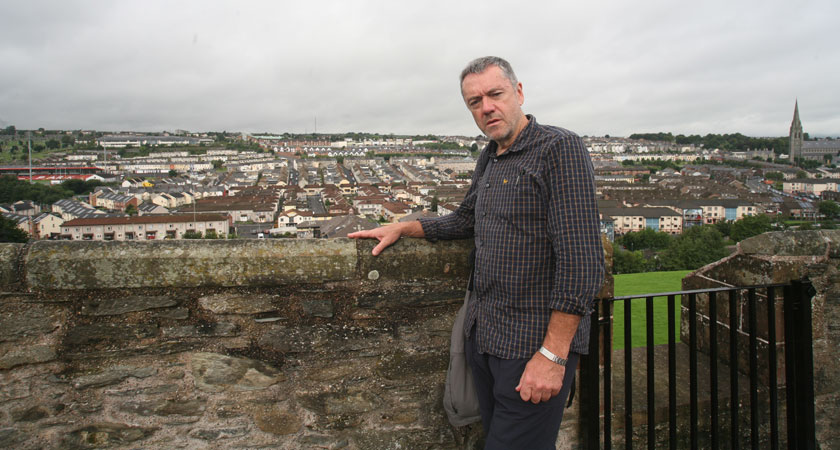 A different outlook as James Ruddy scales Derry's walls on his latest trip the city