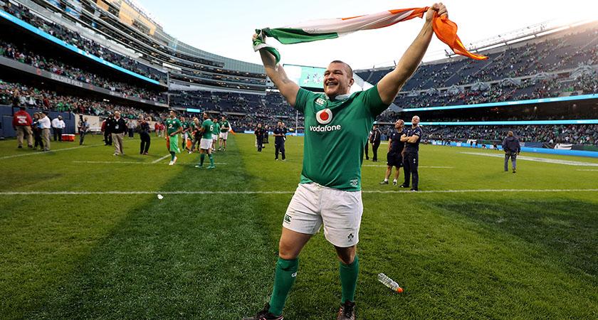 The AIG Rugby Weekend, Solider Field, Chicago, USA 5/11/2016 Ireland vs New Zealand All Blacks Ireland's Jack McGrath celebrates winning Mandatory Credit ©INPHO/Dan Sheridan