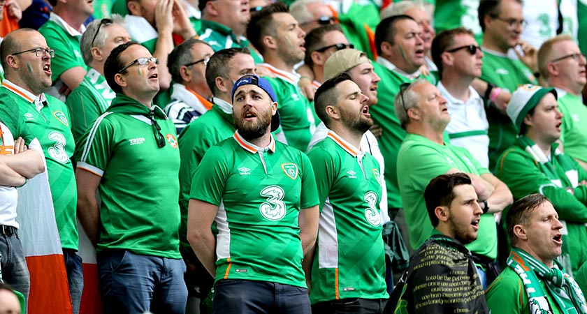 Irish fans at the 2016 Euro Championships [Picture: INPHO/James Crombie]