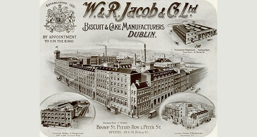 The flag was hoisted above Jacob's Biscuit Factory during the height of the rebellion [Picture: History Ireland]