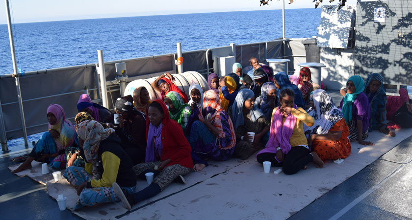 The Irish ship LE James helped rescue hundreds of refugees of the Libyan coast in September, but can Ireland be doing more to help refugees? (Image: rollingnews,ie)
