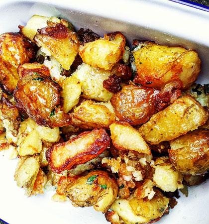 Laoise Casey's smashed roast potatoes