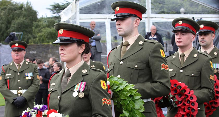 Members of the Irish Defence Forces pay tribute to the Irishmen killed at the Battle of the Somme [RollingNews.ie]