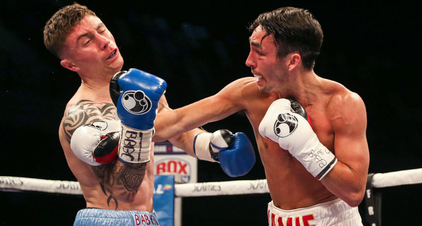 Jamie Conlan against Anthony Nelson (Image: inpho.ie/Presseye/Jed Leicester)