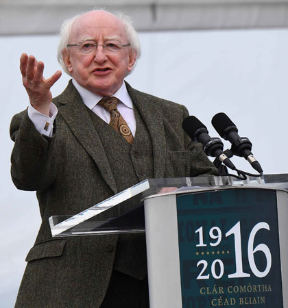 Michael D Higgins helped show Ireland at its best on the international stage in 2016 (Image: rollingnews.ie)