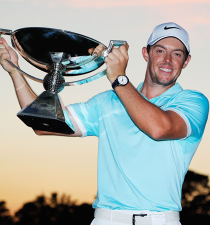 Rory McIlroy with the FedEx Cup (Image: Kevin C. Cox/Getty Images)