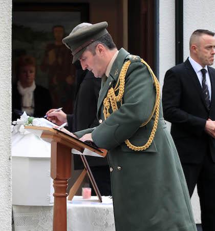 Lt. Col Kieran Carey , Aide de Camp to Taoiseach Enda Kenny pictured at St Moling's Church