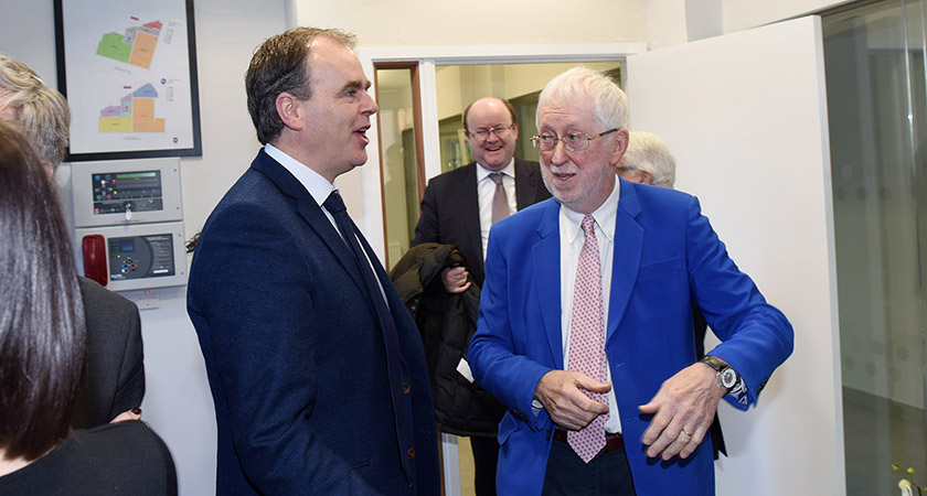 Jim O'Hara, Chairman of the Irish Cultural Centre Hammersmith and Joe McHugh TD, Minister of State for the Diaspora and Overseas Development Aid