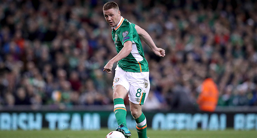 James McCarthy in action for Ireland. Picture: ©INPHO/Ryan Byrne