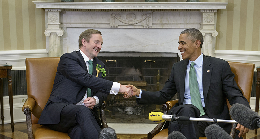 Enda Kenny enjoyed a good realtionship with Barack Obama but will this continue with Trump? (Photo: BRENDAN SMIALOWSKI/AFP/Getty Images)
