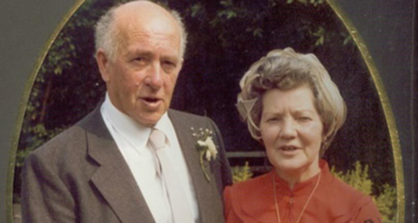 Sheila pictured with her husband Michael Burns [Picture: Clarke family]