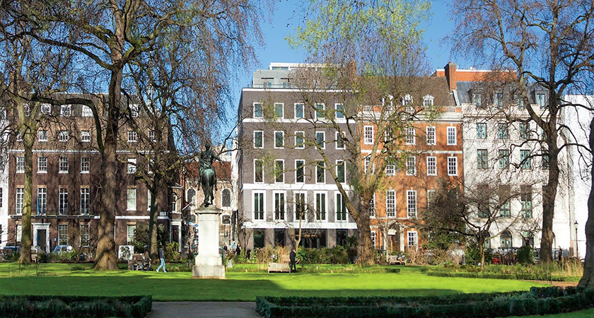 The properties feature views over London's exclusive St James Square. Picture: Getty Images