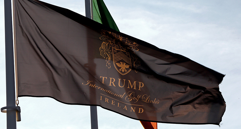 Trump's five star golf resort in Doonbeg, County Clare Photo credit should read PAUL FAITH/AFP/Getty Images)