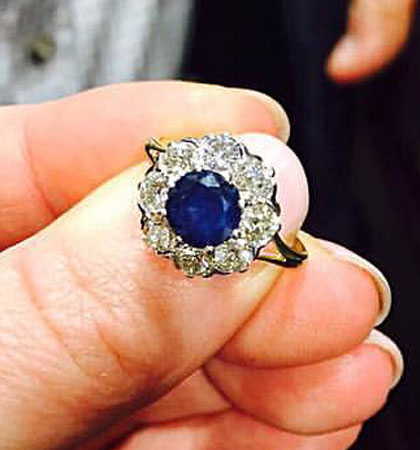 The engagement ring (Image: Anna Louise Martin)