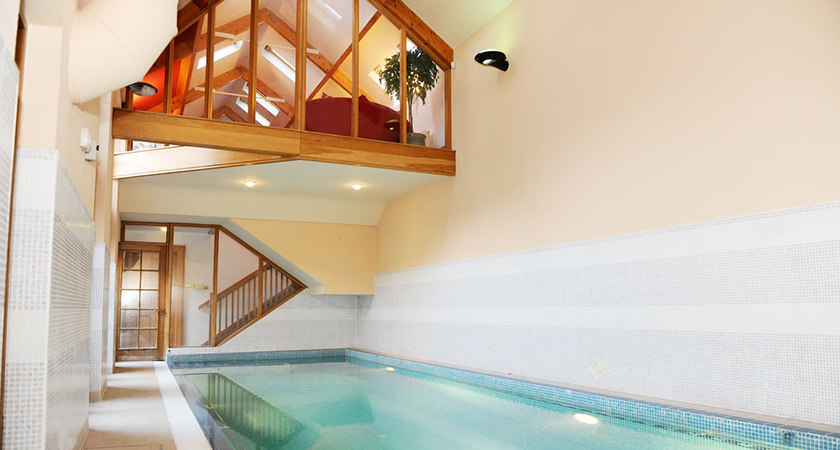 The heated private indoor swimming pool sets this property apart. (Picture: Airbnb)