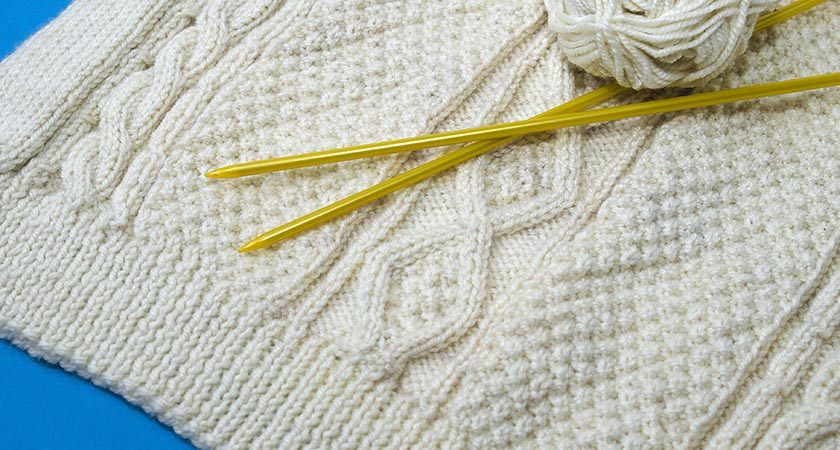 The Aran sweater —you need to wrap up warm if you live on an Atlantic island (Picture: iStock)