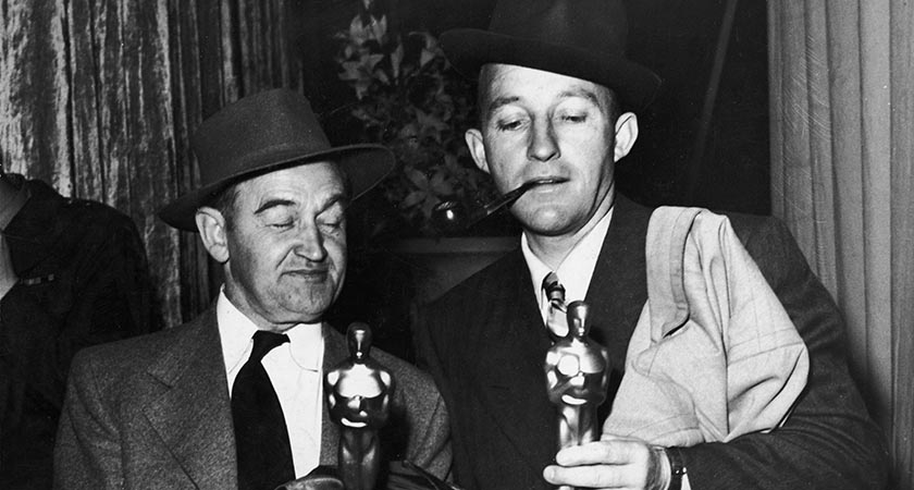 Barry Fitzgerald pictured with fellow Going My Way actor Bing Crosby (Picture: Hulton Archive/Getty Images)