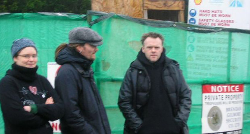 Mark Kennedy (centre) while undercover. Picture: Shell to Sea/Terence Conway