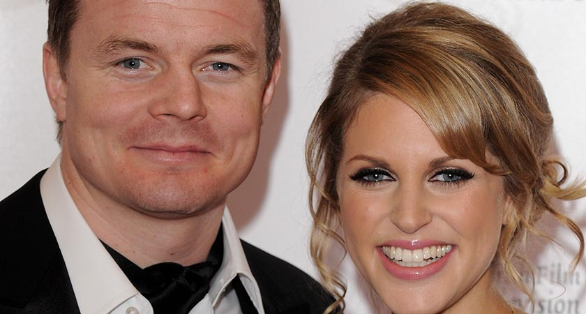 Brian O'Driscoll and Amy Huberman (Photo by Eamonn McCormack/Getty Images)