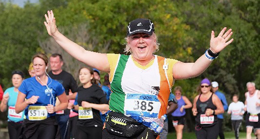 The 40-year-old has run 16 marathons since 2011 and raised over £80,000.