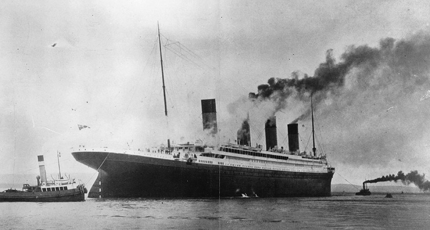 Titanic on trials in Belfast Lough. Picture: Topical Press Agency/Getty