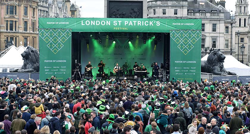 Resultado de imagen para Trafalgar Square st patrick's day