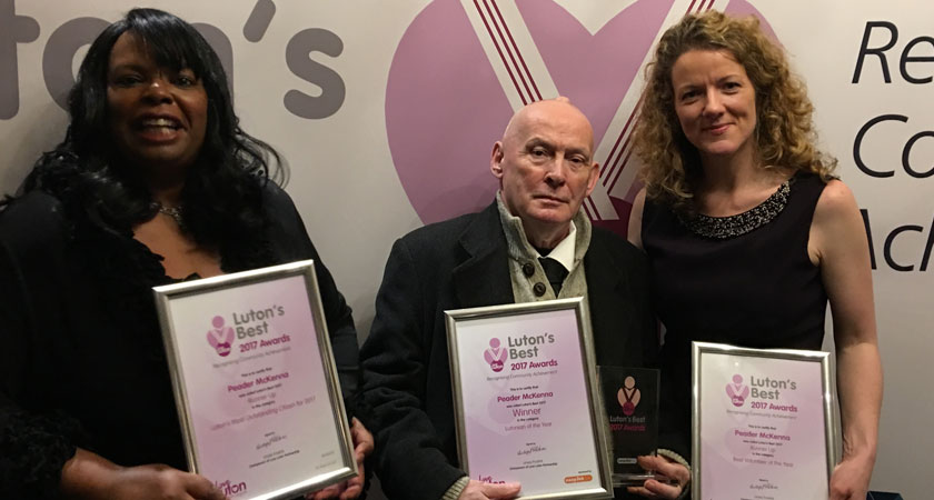 Irishman Named Luton Person Of The Year For His Tireless