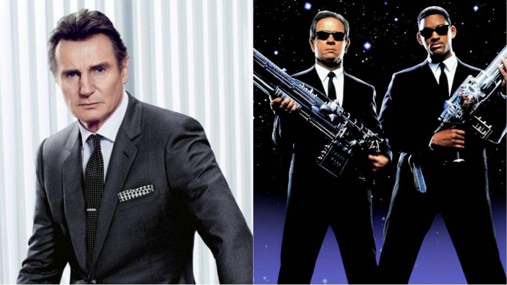 Liam Neeson in a Men In Black movie.