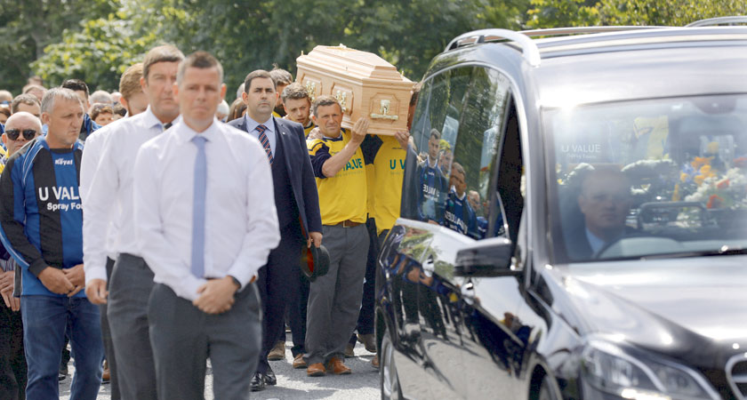 Bobby Messett's Funeral Taking Place