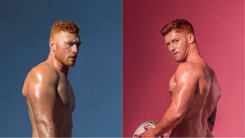 Remarkable, the athletic redhead dudes