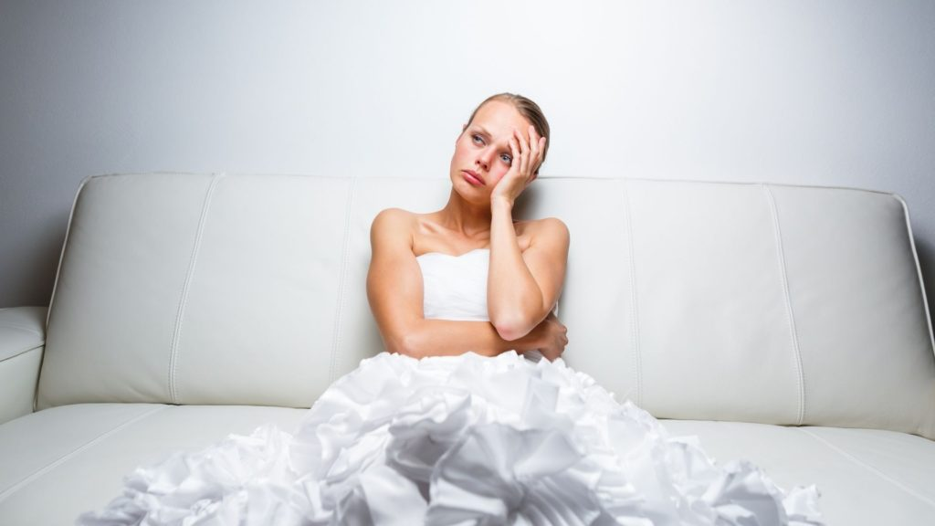 A disgruntled bride.